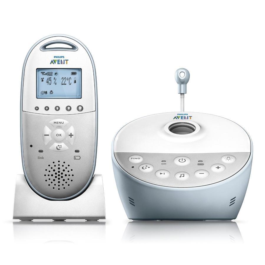 Philips AVENT Babyphone SCD580/00 DECT SCD 580, blanc/bleu clair