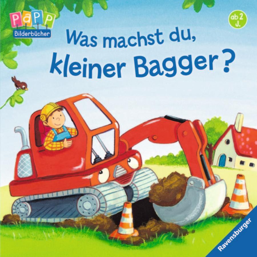 RAVENSBURGER Bilderbuch - Was machst du, kleiner Bagger?
