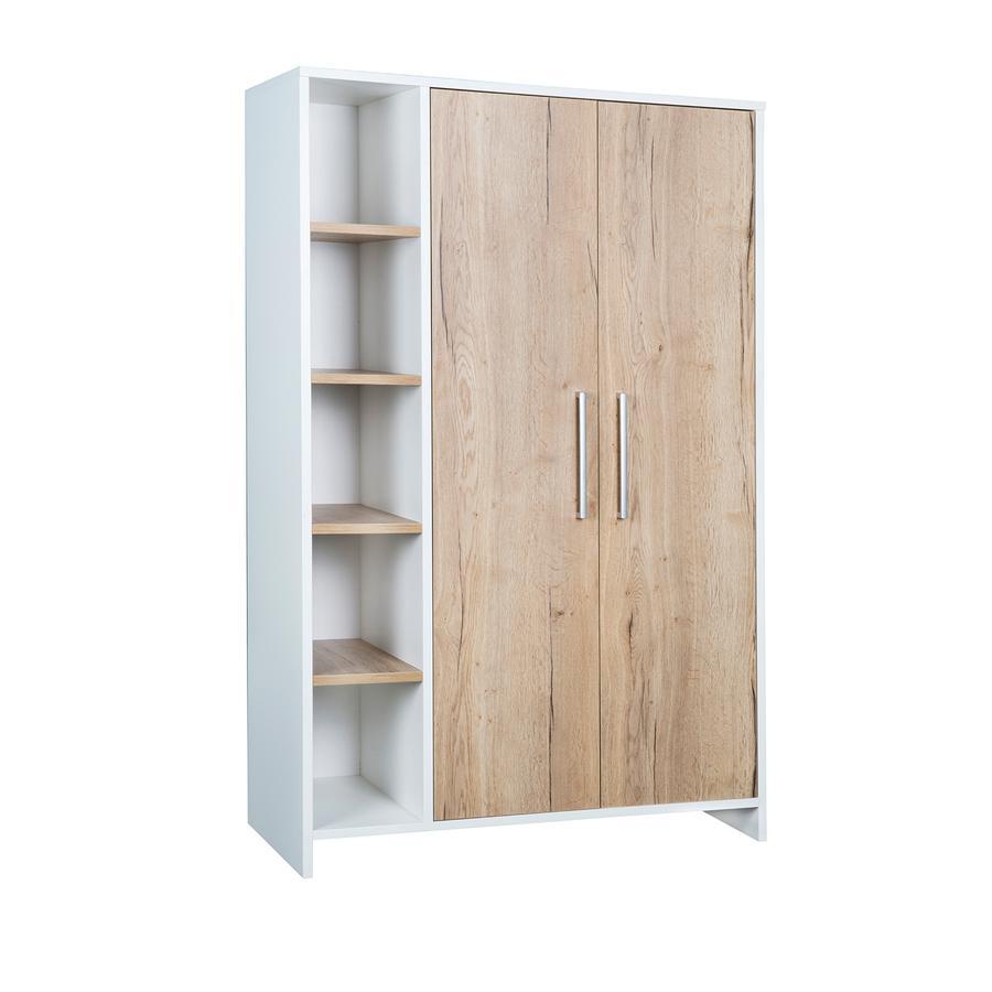 SCHARDT Armoire 2 portes ECO PLUS couleurs bois, blanc
