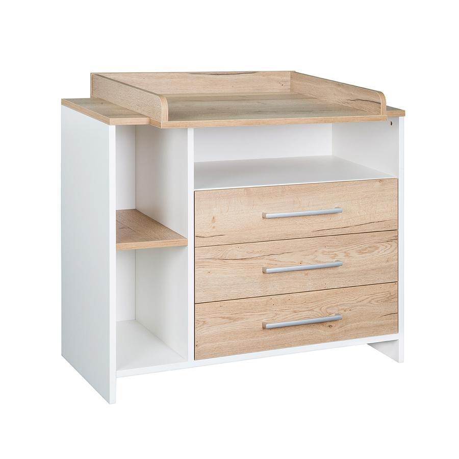 SCHARDT Mobile fasciatoio con superficie per il cambio ECO PLUS legno naturale / bianco