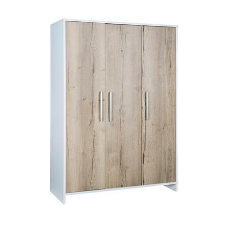 SCHARDT Armoire 3 portes ECO PLUS couleurs bois, blanc