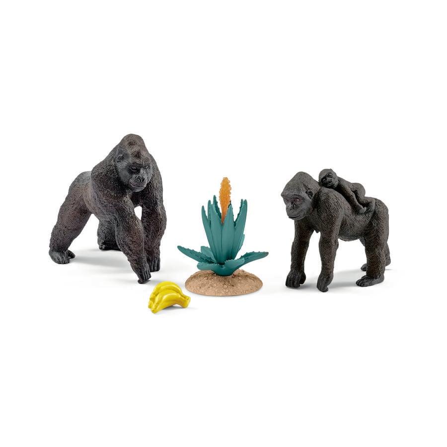 SCHLEICH Gorilí rodinka s mládětem 42276