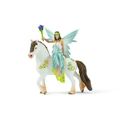 SCHLEICH Festklädd Eyela med häst 70516