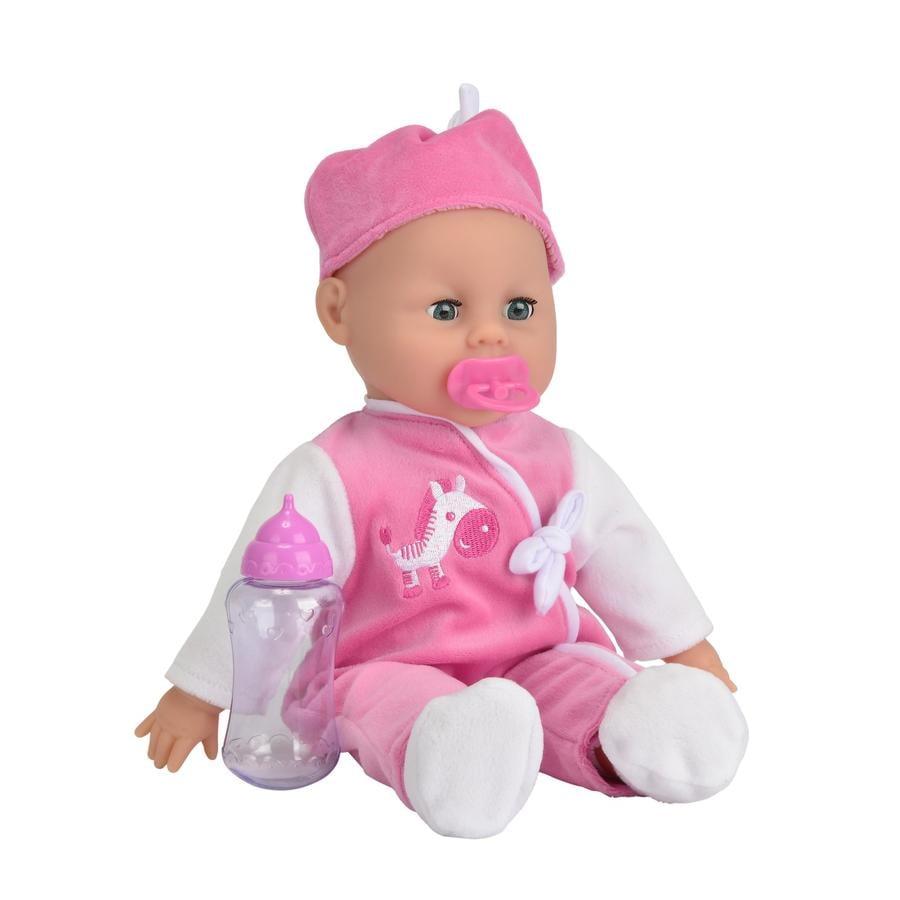 SIMBA Babypop Laura - Brabbelende babypop 38 cm.