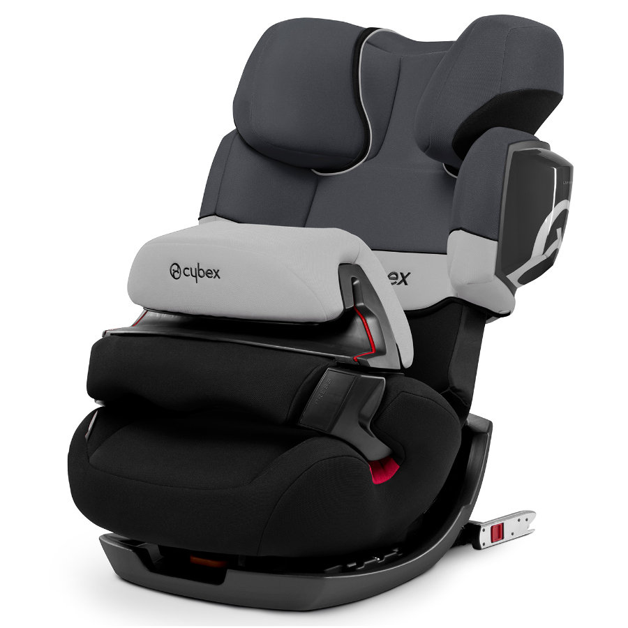 cybex silver solution x fix autositz gruppe 2 3 15 36 kg pure black mit isofix. Black Bedroom Furniture Sets. Home Design Ideas