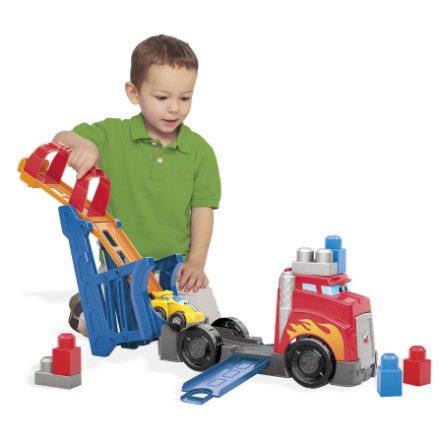 MATTEL Mega Bloks First Builders Fast Tracks™ - Transporteur de voitures de course CND68