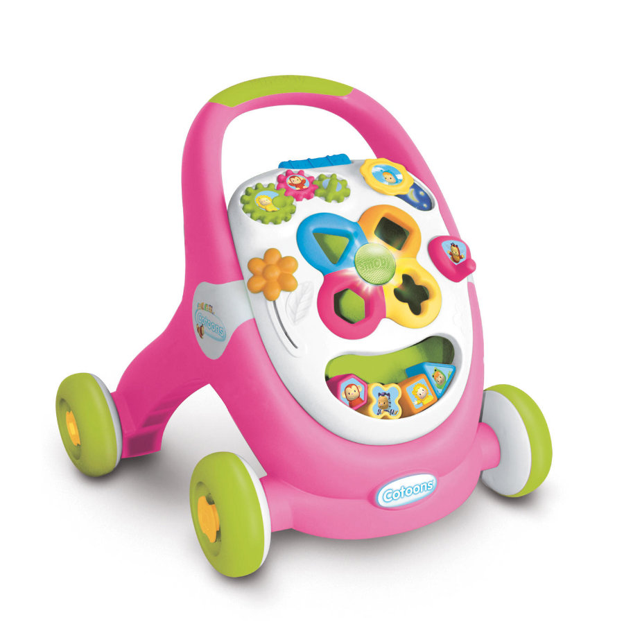 SMOBY Cotoons - 2-in-1 Loopwagen + Speelstation, roze