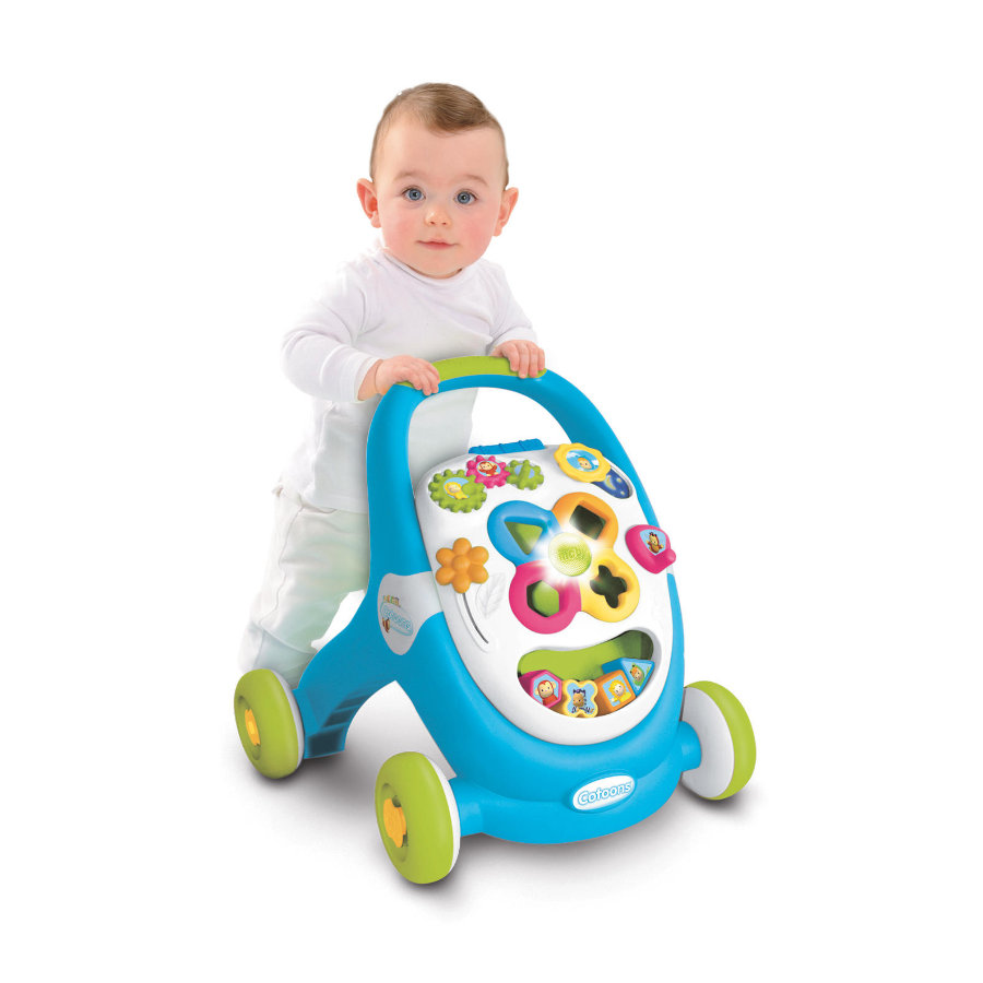 Smoby cotoons 2 in 1 loopwagen speelstation blauw for Scivolo smoby megagliss 2 in 1