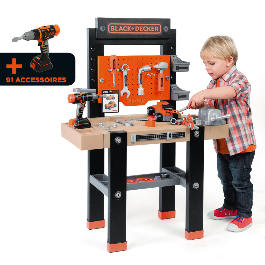 SMOBY Black en Decker speelgoed werkbank center
