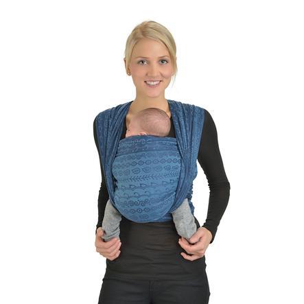 HOPPEDIZ Maxi Chusta do noszenia dziecka Jacquard Darjeeling aquamarin