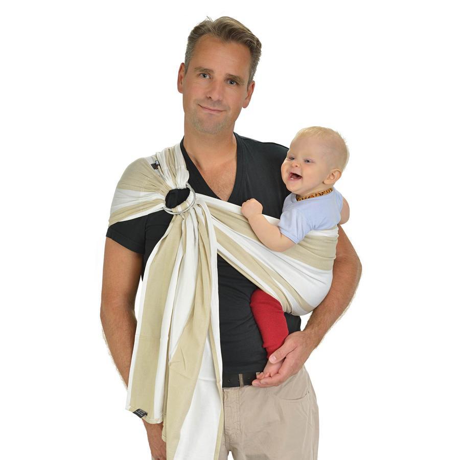 HOPPEDIZ Chusta krążkowa do noszenia dziecka Kairo beżowy
