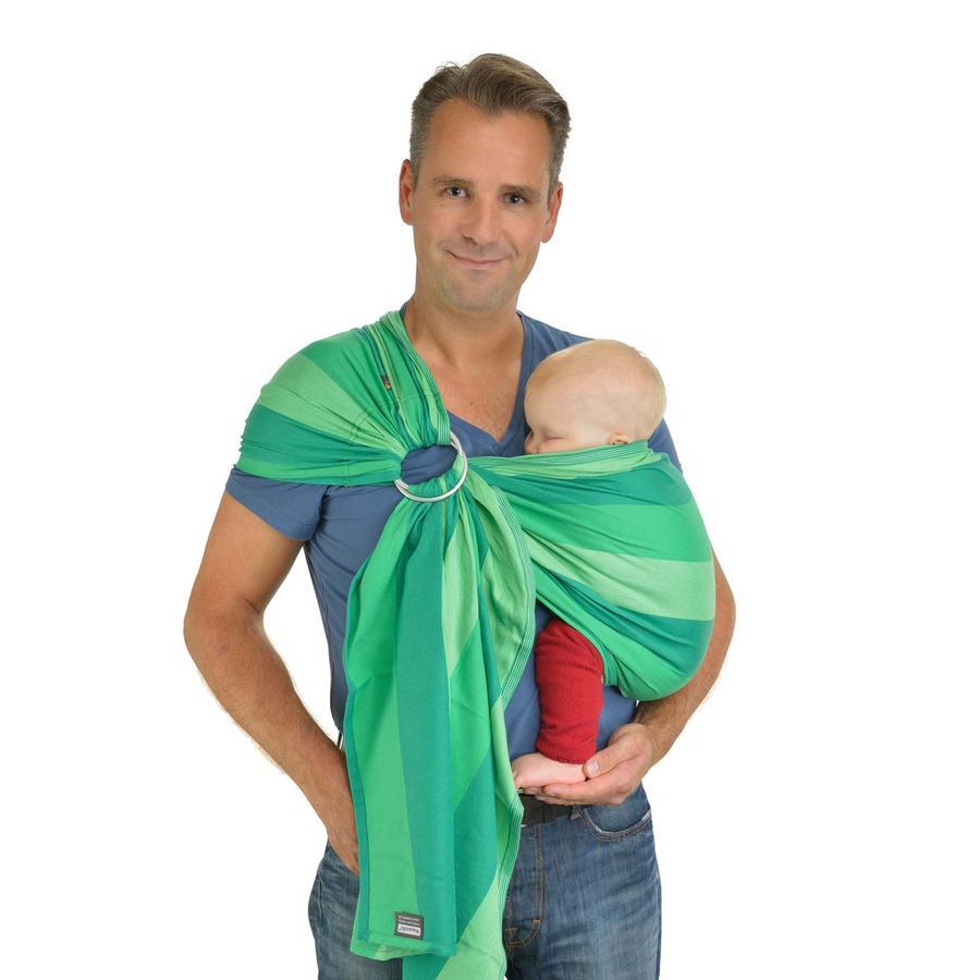 HOPPEDIZ Écharpe de portage Ring-Sling Lima, vert