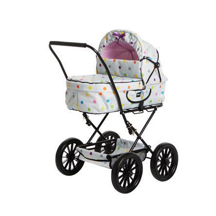 BRIO Puppenwagen Klassik grau mit Punkten