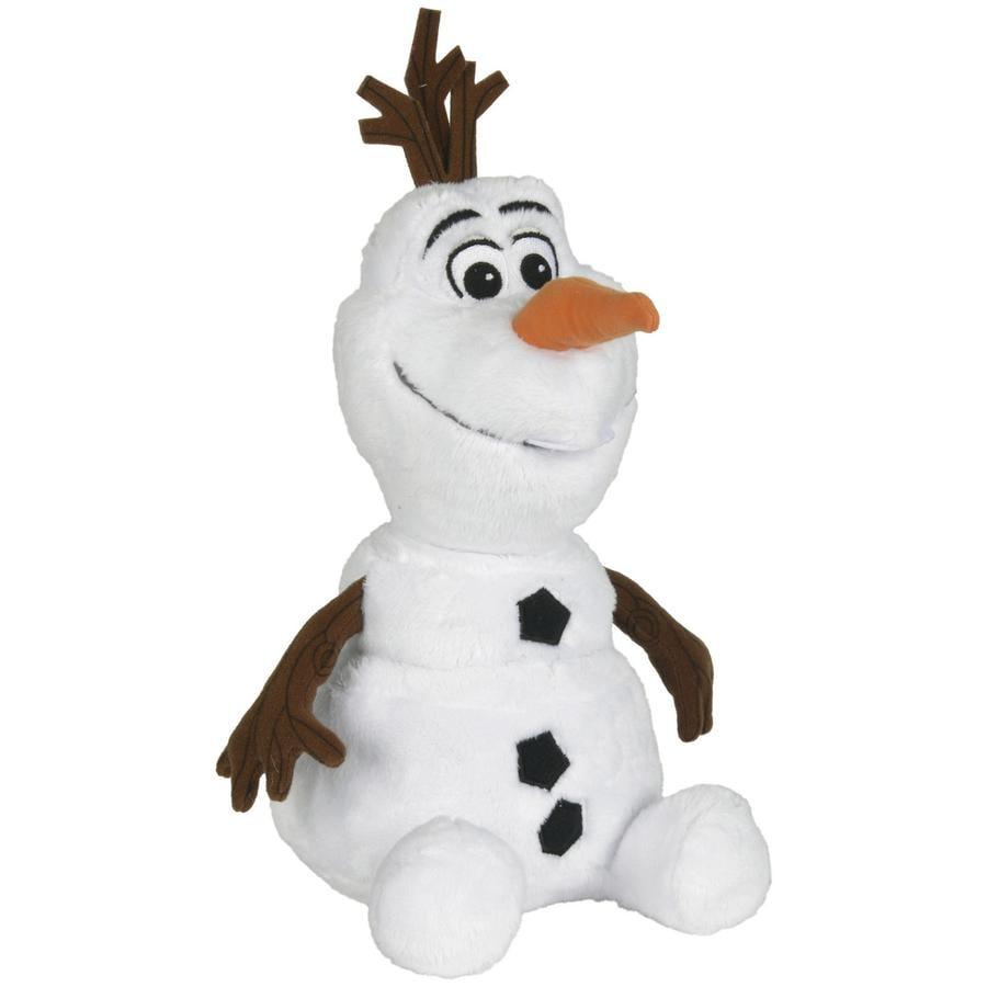 SIMBA Disney La Reine des Neiges - Olaf le bonhomme de neige, assis, 25 cm