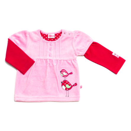 ELTERN by SALT AND PEPPER Girls Mini Bluzka z długim rękawem BIRDIE raspberry pink