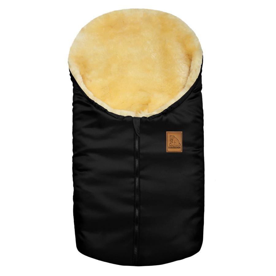HEITMANN Liten  Lammeskinns vognpose isbjørn svart