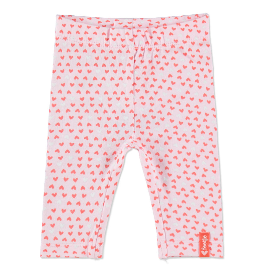 FEETJE Girls Leggings bébé, HEARTS, rosé