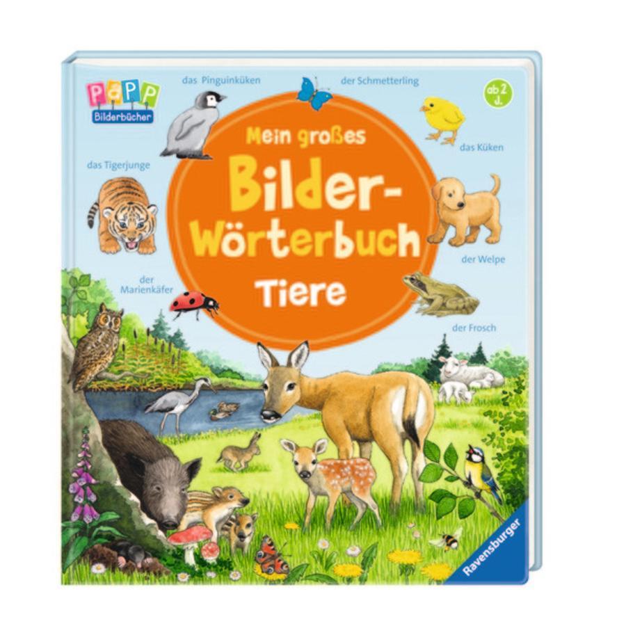 RAVENSBURGER Mein großes Bilder-Wörterbuch: Tiere