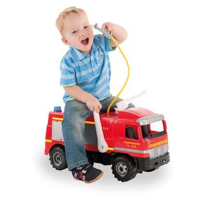 LENA® Starke Riesen Feuerwehr Modell Actros mit Aufklebern, 64 cm