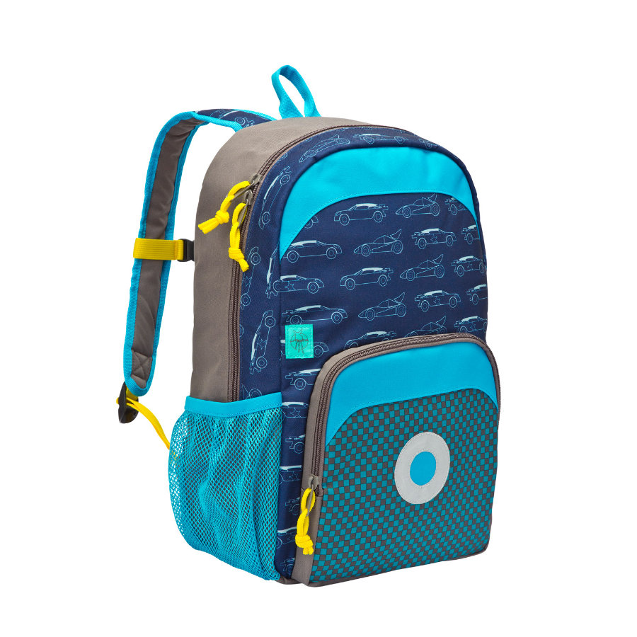 LÄSSIG 4Kids Mini Sac à dos Backpack Big Cars, bleu marine