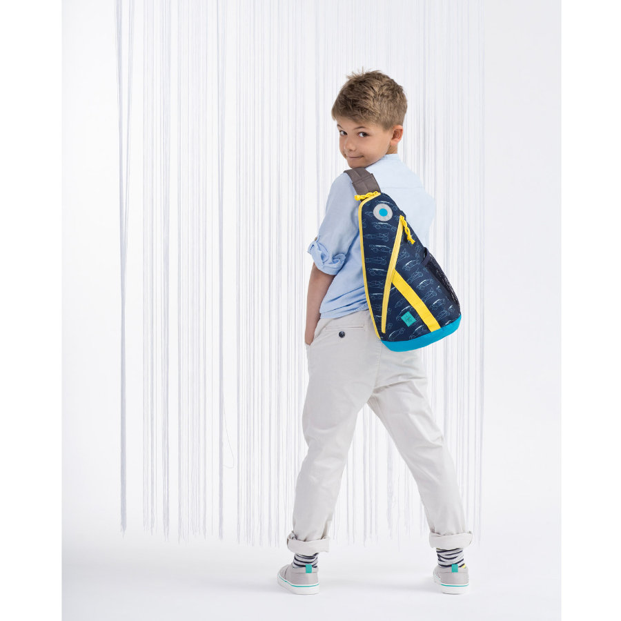 LÄSSIG Plecak 4Kids Mini Sling Bag Cars navy