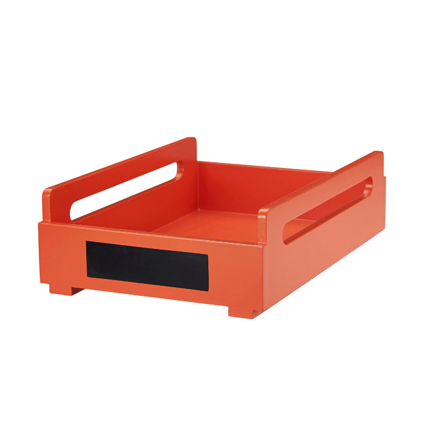 KIDS CONCEPT Desk storage A4 Poppy oranje