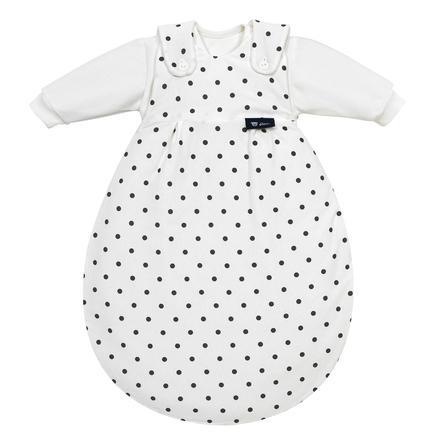 ALVI Baby-Mäxchen Spací pytel třídílný s puntíky bílý