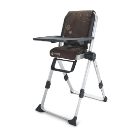 CONCORD Travel High Chair LIMA Chocolate Brown