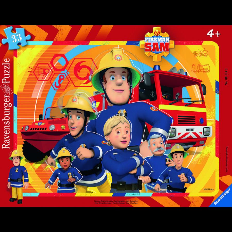 RAVENSBURGER Rámové puzzle - Hasič Sam, 33 dílů