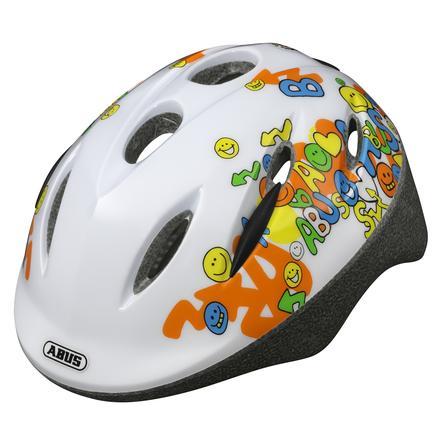 ABUS Cykelhjälm Smooty Smiley white Storlek M 50-55 cm