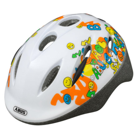 ABUS Dětská helma Smiley white, Velikost M 50-55 cm
