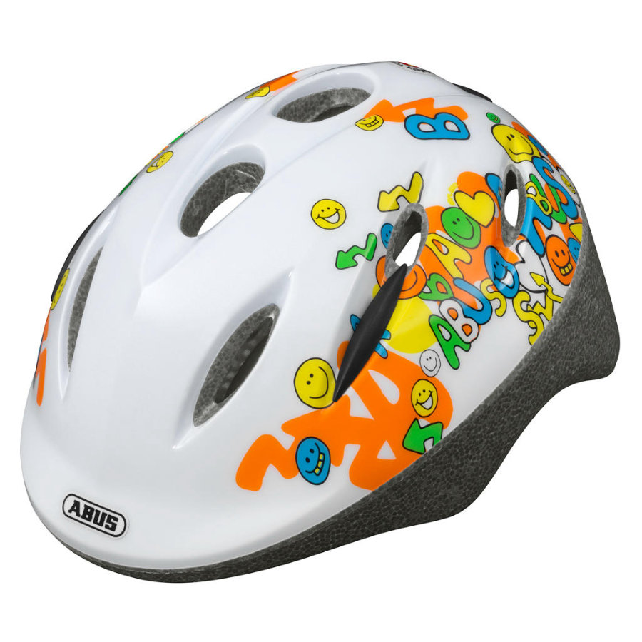 ABUS Kinderhelm Smooty Smiley white Größe M 50 bis 55 cm