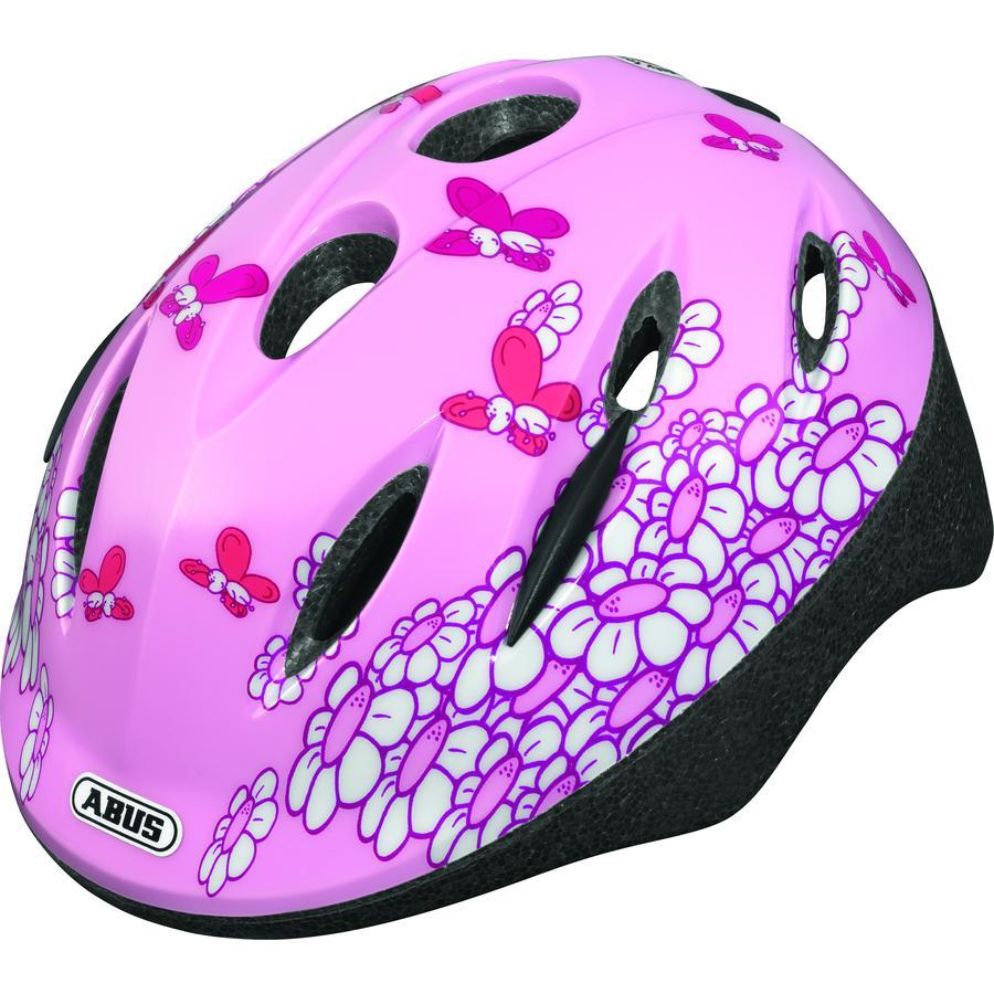 ABUS Cykelhjälm Smooty Pink Butterfly, storlek M 50-55 cm