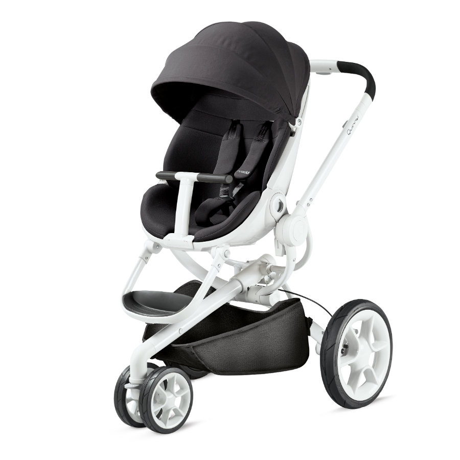Quinny Poussette 3 roues Moodd Black Irony châssis blanc