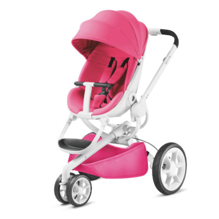 Quinny Poussette 3 roues Moodd Pink Passion châssis blanc