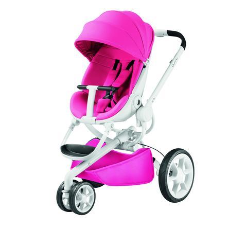 QUINNY Wózek spacerowy Moodd Pink Passion - biały stelaż