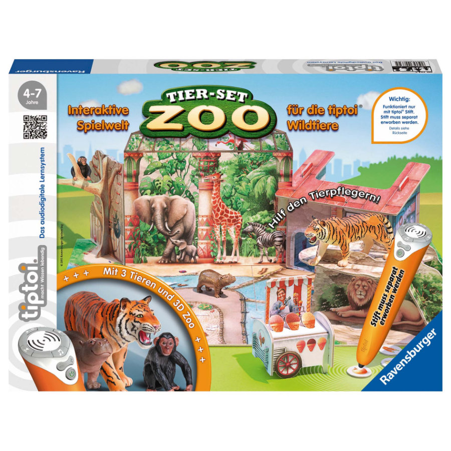 RAVENSBURGER tiptoi Tier-Set Zoo