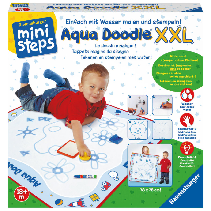 RAVENSBURGER Tapis de dessin enfant ministeps Aqua Doodle XXL
