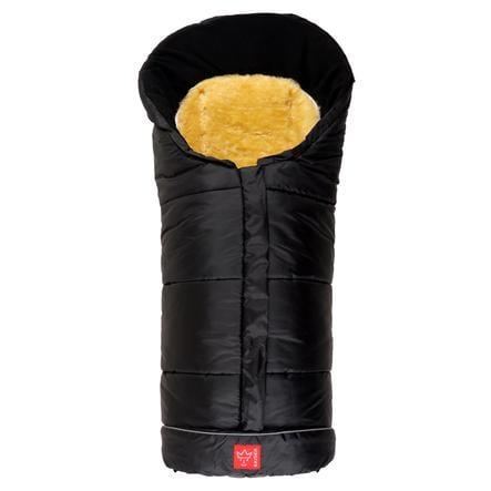 KAISER Fußsack SHEEPY mit Lammfelleinlage schwarz