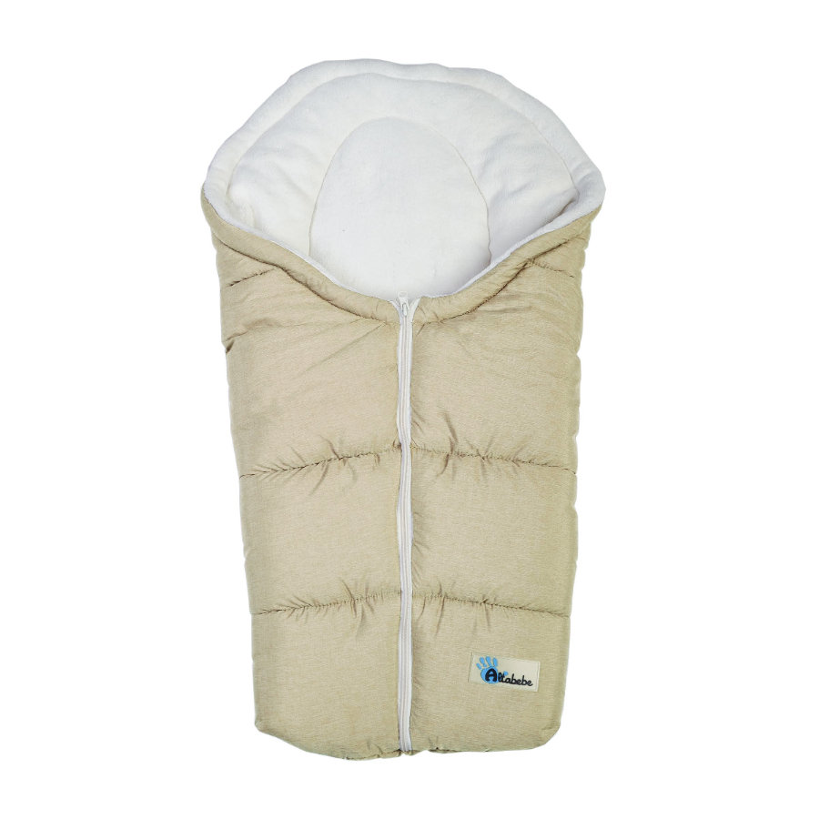 ALTABEBE Winter Footmuff Alpine, for Buggy and Pram beige - white wash