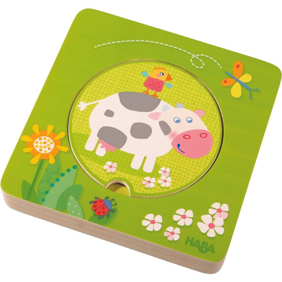 HABA Drewniane Puzzle Farma - zwierzęta