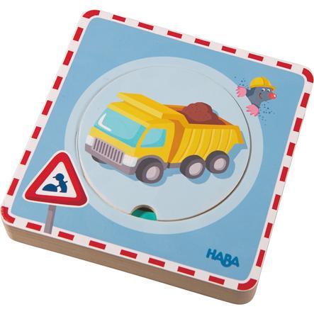 HABA Drewniane Puzzle - Roboty drogowe