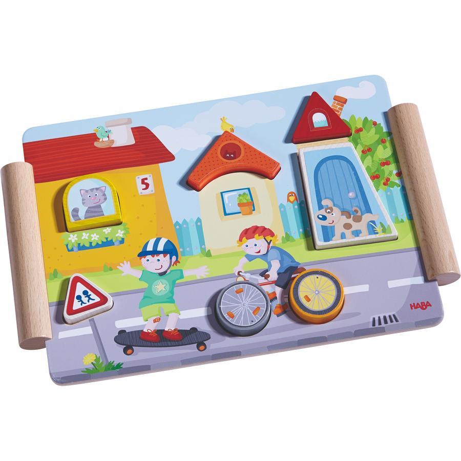 HABA Dřevěné puzzle - stavba a jízda