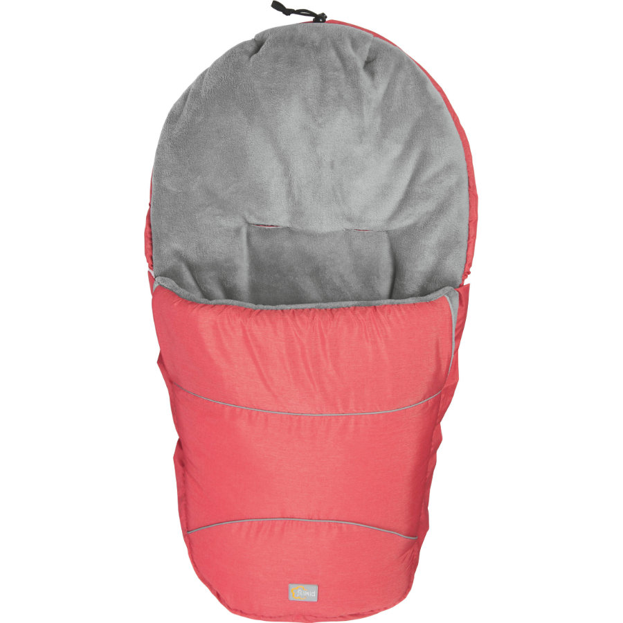 FILLIKID Winterfußsack Bernina Pocket melange rot