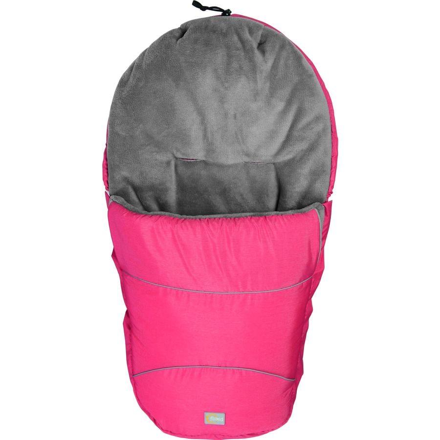 fillikid Winterfußsack Bernina Pocket Melange Rot