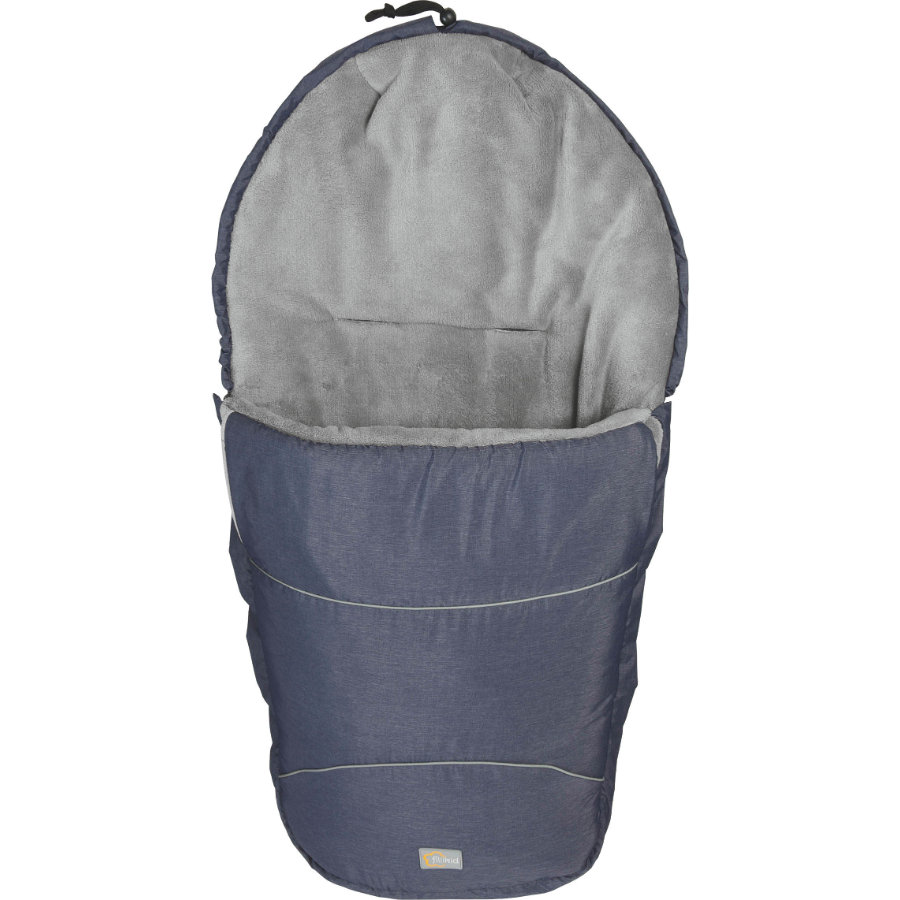 fillikid Chancelière pour poussette hiver Bernina Pocket, mélange bleu