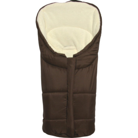 Winter Footmuff Eiger Gr.0 - for Polyester Pongee Car Seat brown