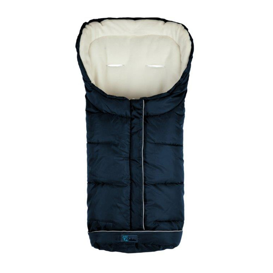 Altabebe Saco cubrepies de invierno XL Active con ABS azul marino-blanco