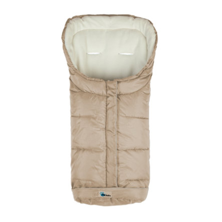 ALTABEBE Sacco a pelo invernale AL2203XL per passeggini beige -bianco