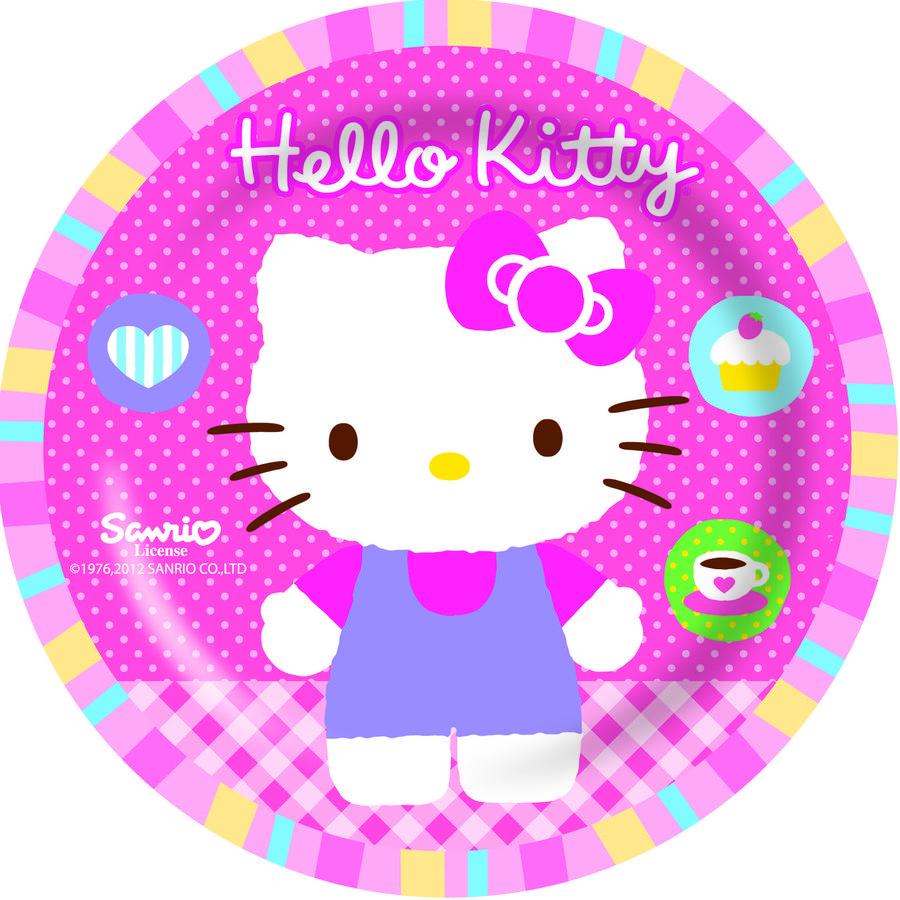 p:os Hello Kitty - Punkte/Kirschen, 3-teiliges Frühstücksset Melamin